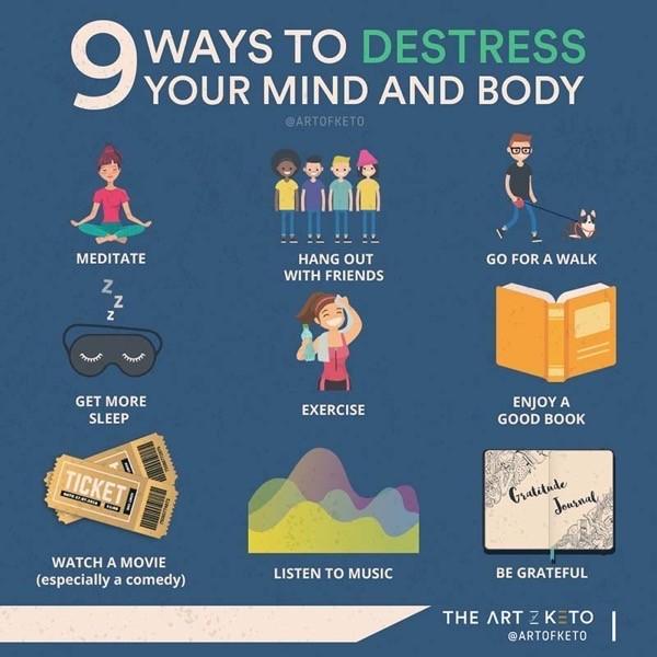 KETO RASH 9 WAYS TO DESTRESS