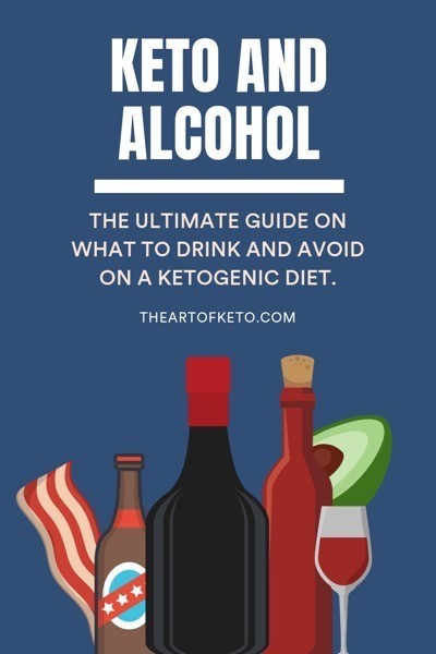 Keto and alcohol pinterest cover