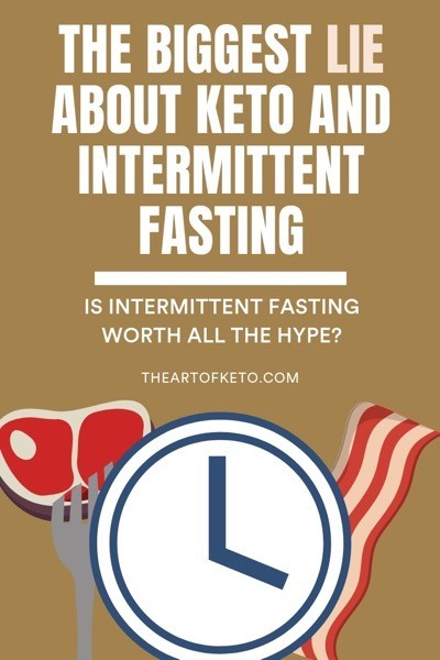Keto and intermittent fasting pinterest cover