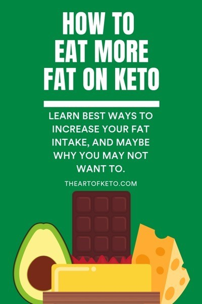 How to get more fat on keto pinterest cover