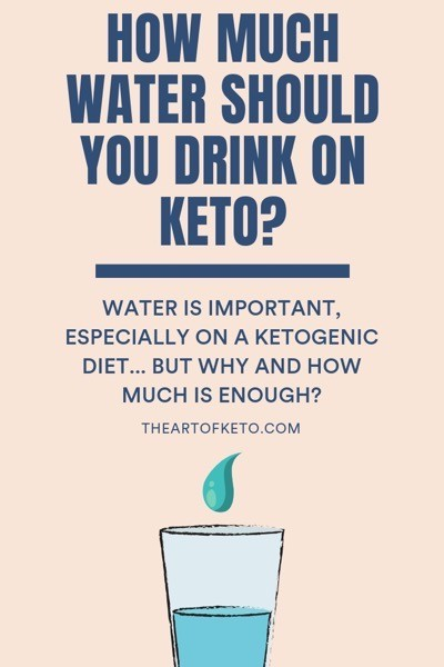 How much water should i drink on keto pinterest cover