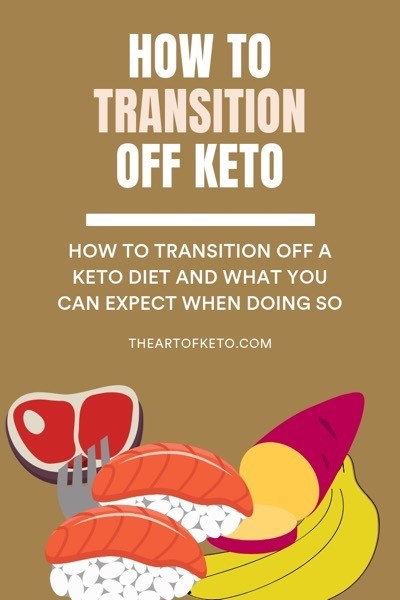 HOW TO TRANSITION OFF KETO PINTEREST COVER