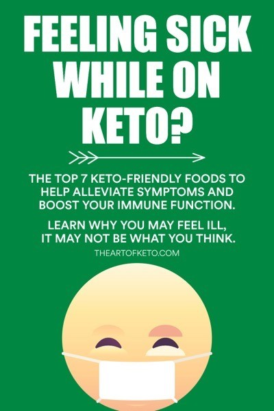What to eat when sick on keto pinterest cover