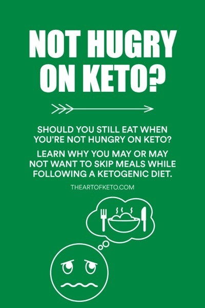 Not hungry on keto pinterest