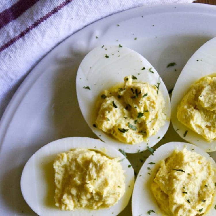 SOUR CREAM KETO FRIENDLY DEVILED EGGS