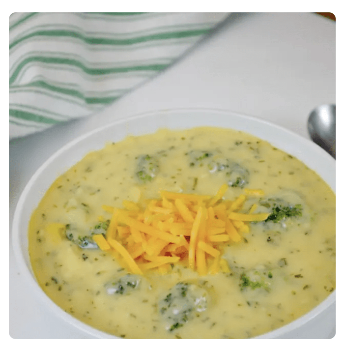 Heavy whipping cream soup