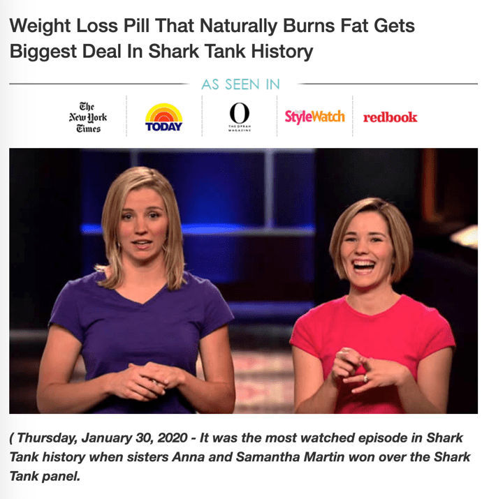 Keto diet pill scam shark tank women