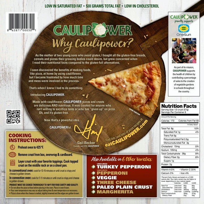 CAULIPOWER PIZZA CRUST NOT KETO FRIENDLY