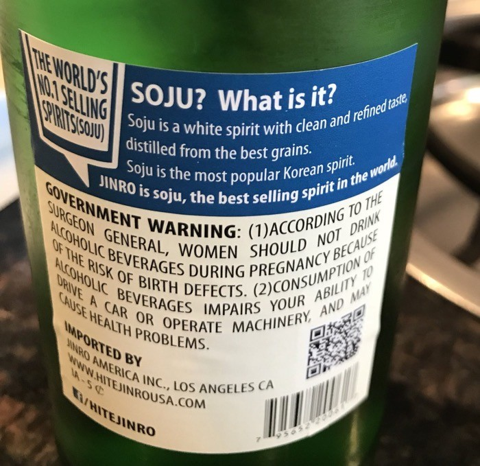 KETO FRIENDLY WHAT IS SOJU LABEL