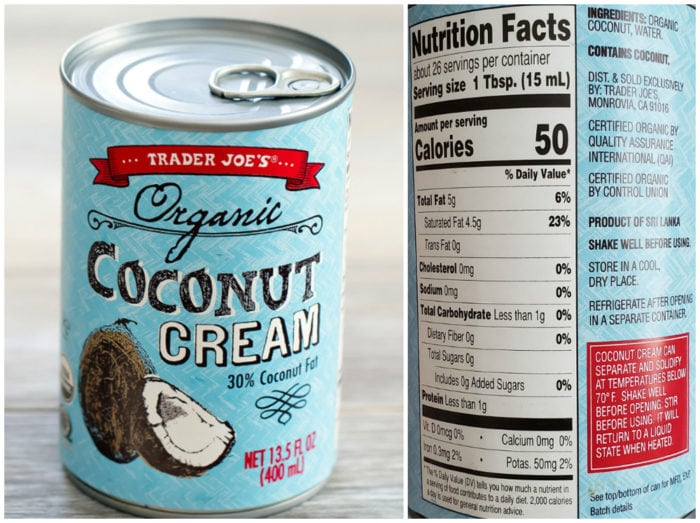Coconut cream half and half alternative for keto