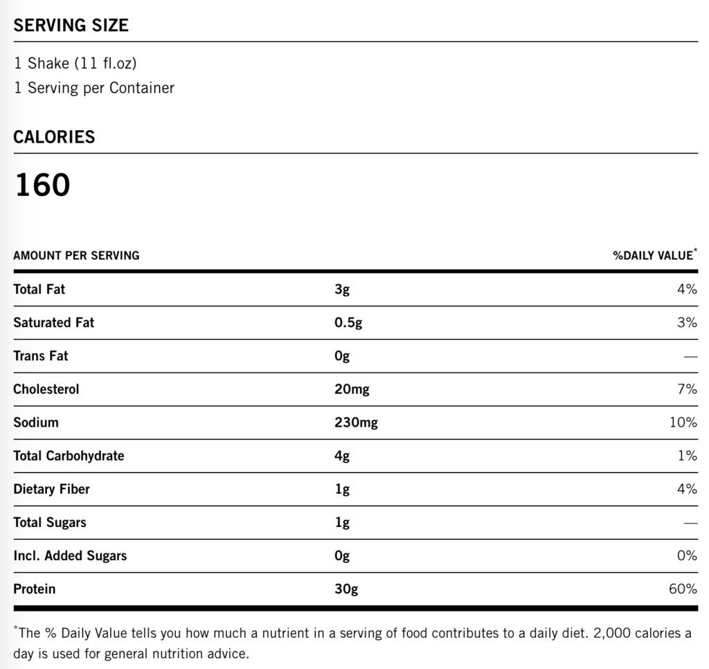 is premier protein shake keto friendly nutrition label