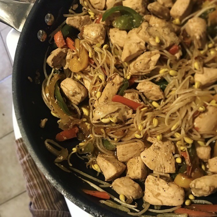 Keto friendly asian stir fry bean sprout recipe
