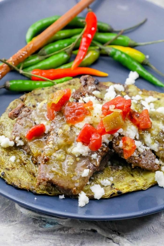 Keto friendly nopales beef tacos