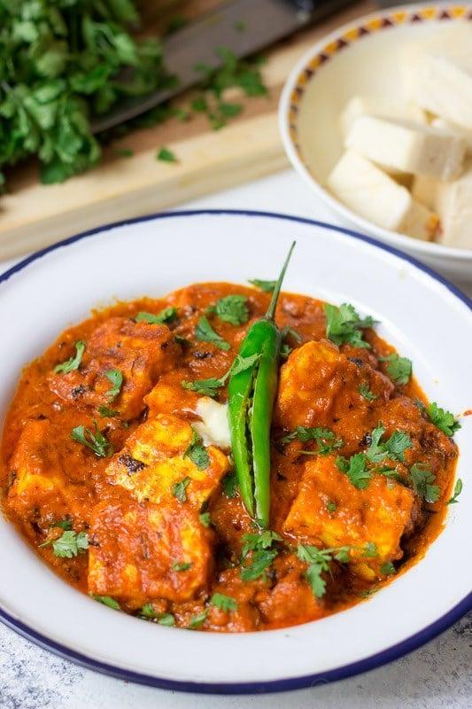 Keto friendly recipe paneer makhani