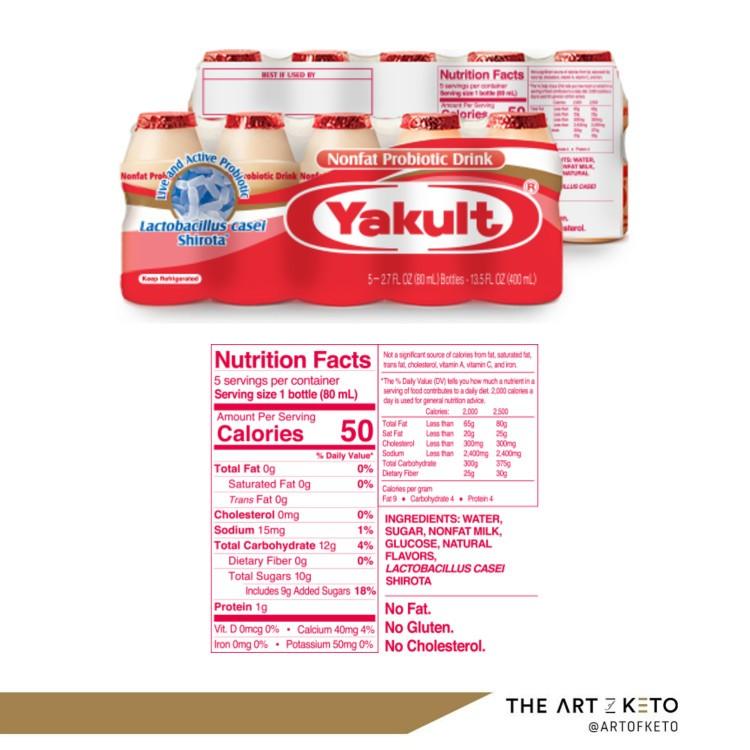 Yogurt soju not keto friendly yakult package