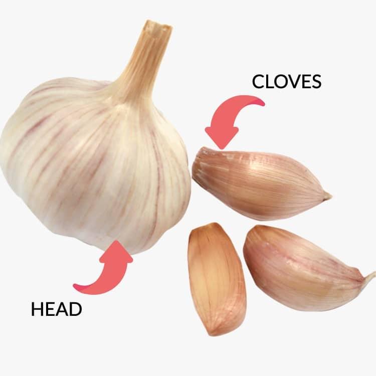 Garlic head vs garlic clove keto friendly
