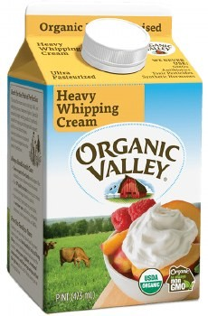 Heavy whipping cream for keto friendly whipped cream