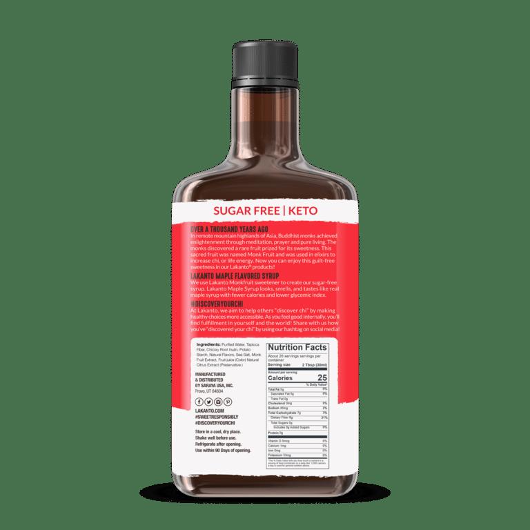 Lakanto Maple Syrup back update 1500x1500 da3c966c 390d 41f1 b8db a45e35ce4fdf 768x768