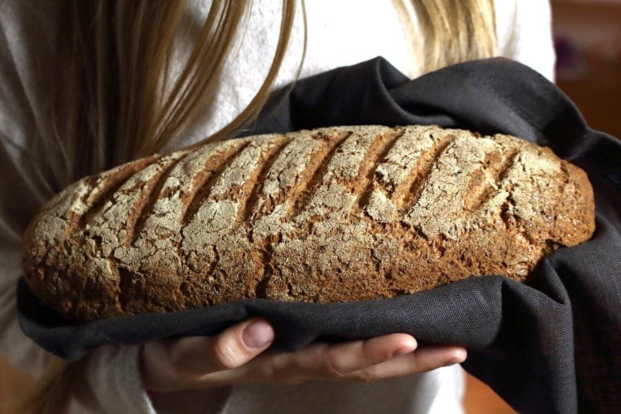 Oat fiber keto bread