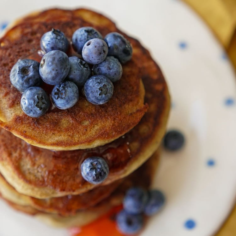 Keto pancake topping idea berries
